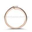 E7RB14 - GYÉMÁNT:  0.14 CT (=3.3mm Ø) Eljegyzési Gyűrű