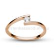 E7RC - CIRKÓNIA köves rozé arany Eljegyzési Gyűrű