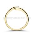 E7SC - CIRKÓNIA köves sárga arany Eljegyzési Gyűrű