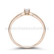 E8RC - CIRKÓNIA köves rozé arany Eljegyzési Gyűrű