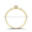 E8SB11 - GYÉMÁNT:  0.11 CT (=3.0mm Ø) Eljegyzési Gyűrű