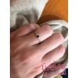 E8FK - AKVAMARIN köves fehér arany Eljegyzési Gyűrű