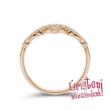 E901RC - CIRKÓNIA köves rozé arany Eljegyzési Gyűrű