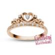 E903RC - CIRKÓNIA köves rozé arany Eljegyzési Gyűrű