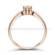 E9RB17 - GYÉMÁNT:  0.17 CT (=3.55mm Ø) Eljegyzési Gyűrű