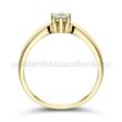 E9SC - CIRKÓNIA köves sárga arany Eljegyzési Gyűrű