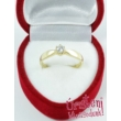 E9FK - AKVAMARIN köves fehér arany Eljegyzési Gyűrű