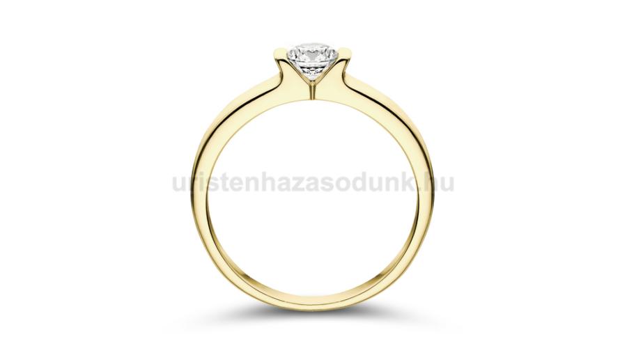 14df2f0b30 E13SC - CIRKÓNIA köves sárga arany Eljegyzési Gyűrű - Praktikus ...