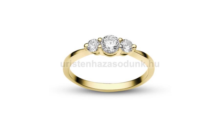 cc8bb7a29a E16SC - CIRKÓNIA köves sárga arany Eljegyzési Gyűrű - Exkluzív ...