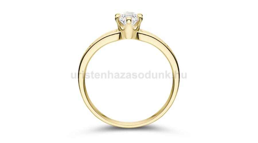 788fcff248 E17SC - CIRKÓNIA köves sárga arany Eljegyzési Gyűrű - Exkluzív ...
