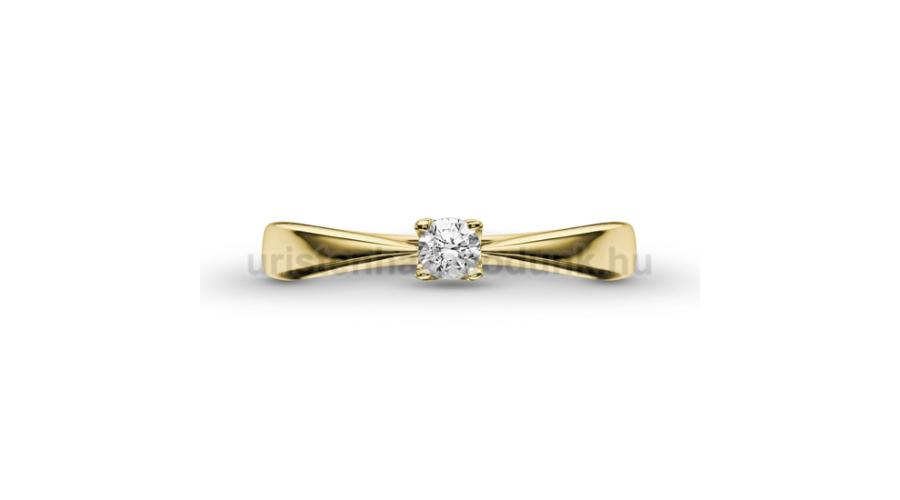 d5e49306d2 E1SC - CIRKÓNIA köves sárga arany Eljegyzési Gyűrű - Klasszikus ...