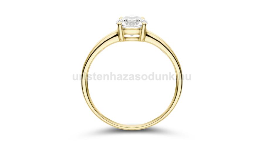 858604c6c9 E24SC - CIRKÓNIA köves sárga arany Eljegyzési Gyűrű - Klasszikus ...